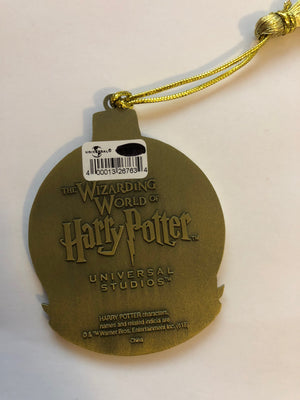 Universal Studios Harry Potter Gryffindor Round Metal Holiday Ornament New w Tag