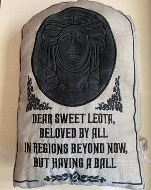 Disney Parks Haunted Mansion Madame Leota Tomb Stone Throw Pillow New with Tag