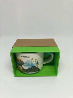 Starbucks Coffee You Are Here Austria Ceramic Ornament Espresso Mug New Box