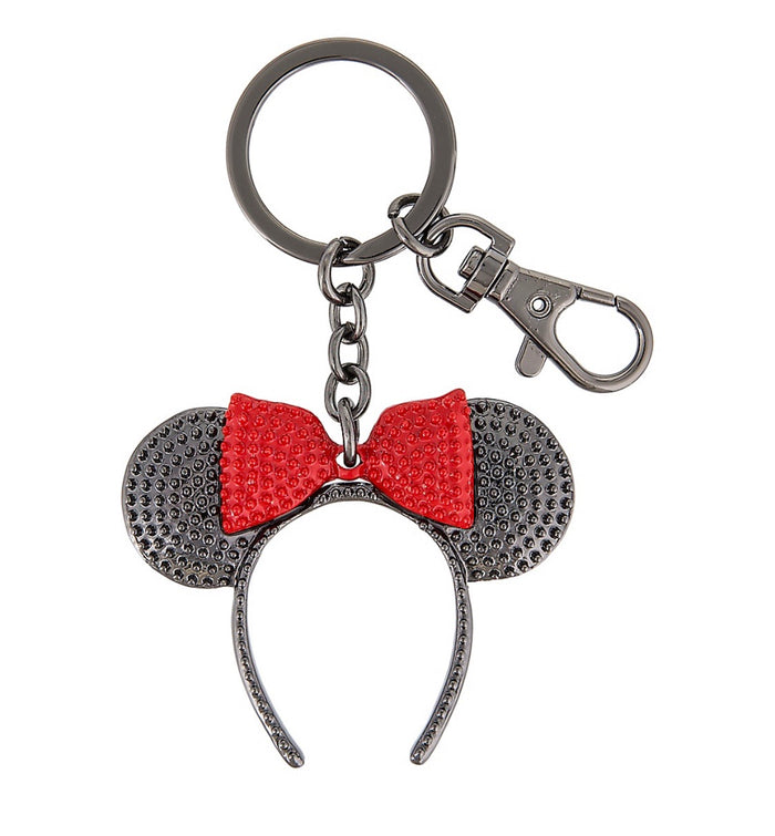 Disney Parks Minnie Mouse Ears Headband Keychain New with Tags