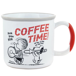Hallmark Peanuts 70th Charlie Brown Snoopy Coffee Time Bottoms Up Mug New