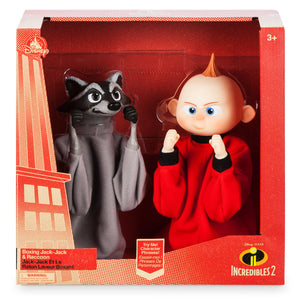 Disney Store Jack-Jack and Raccoon Boxing Puppet Set Incredibles 2 New With Box