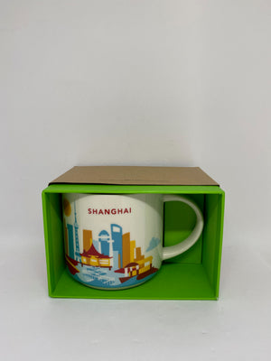 Starbucks You Are Here Collection Shanghai China Ceramic Coffee Mug New w Box
