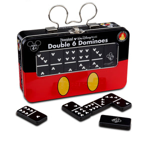 Disney Parks Mickey Mouse Double 6 Dominoes Set Game New