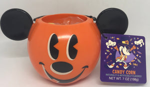 Disney Parks Happy Halloween Mickey Candy Corn with Pumpkin Bowl New with Tag