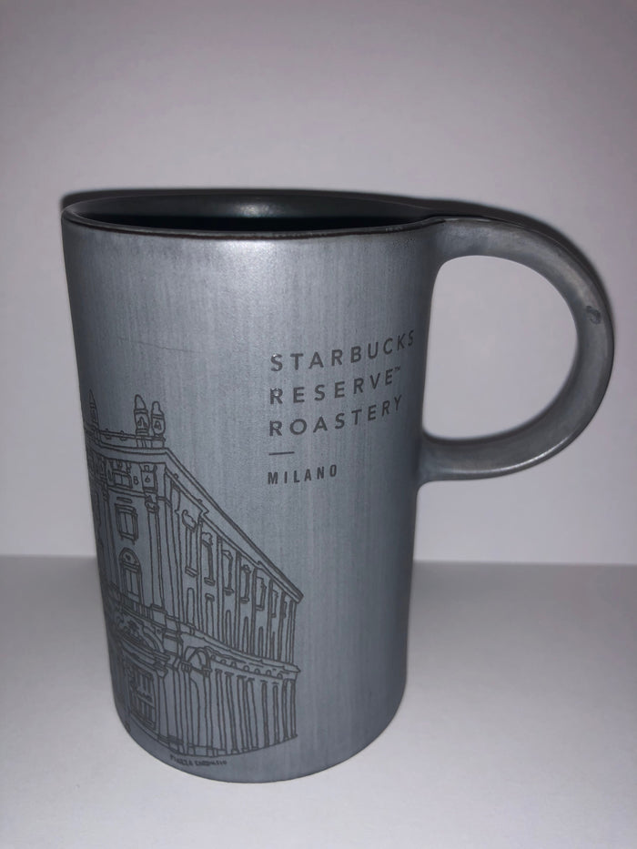 Starbucks Reserve Roastery Milan Milano Illustration Cement Coffee Mug New