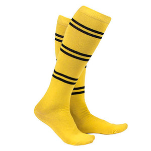 Universal Studios Wizarding World Of Harry Potter Hufflepuff Striped Socks New