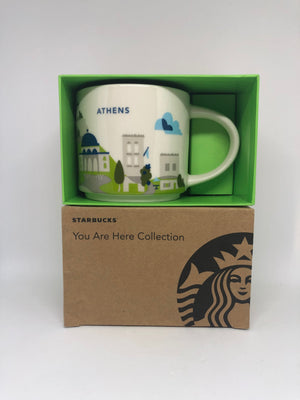 Starbucks You Are Here Athens Greece Ceramic Coffee Mug New with Box