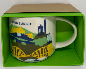 Starbucks Coffee You Are Here Edinburgh Scotland Ceramic Coffee Mug New