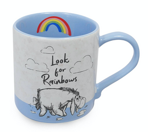 Disney Winnie and Friends When It Rain Look for Rainbows Ceramic Coffee Mug New