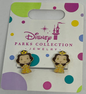 Disney Parks Collection Jewelry Beauty and the Beast Belle Earrings New with Tag