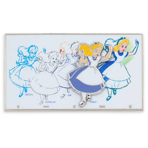 Disney Parks Ink & Paint Alice Pin New with Card