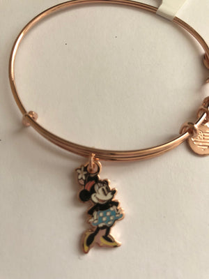 Disney Alex and Ani Minnie Silhouette Rose Gold Finish New with Tags