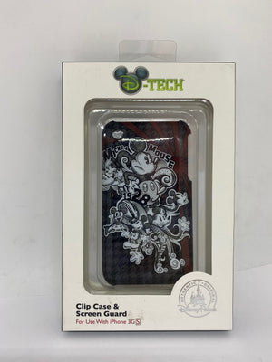 Disney Parks Mickey Through Years Clip Case and Screen Guard Iphone 3GS New Box