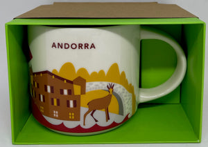 Starbucks You Are Here Andorra Ceramic Coffee Mug New with Box