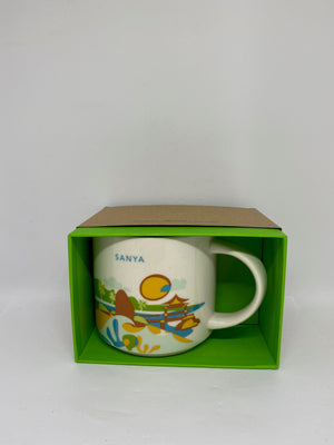 Starbucks You Are Here Collection Sanya China Ceramic Coffee Mug New With Box