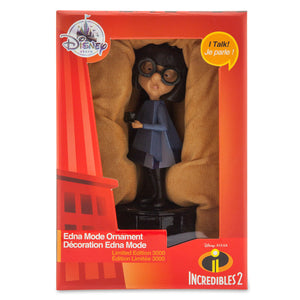 Disney Store Edna Mode Talking Ornament Incredibles 2 Limited Edition New