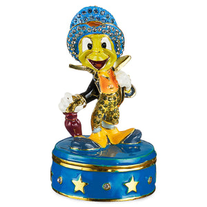 Disney Parks Jiminy Cricket Trinket Box by Arribas Brothers New with Box