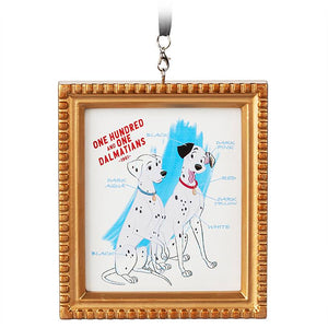 Disney Parks 2020 Ink & Paint 101 Dalmatians 1961 Canvas Framed Ornament New
