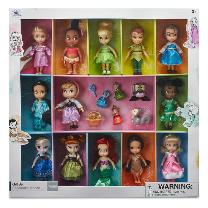 Disney Store Animators' Collection Mini Doll Gift Set 5'' Ariel Belle Peter Pan