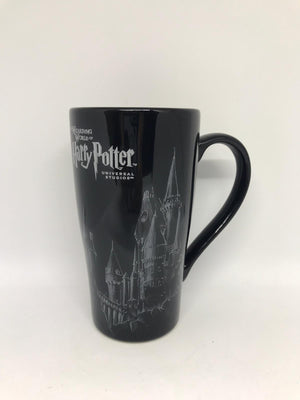 Universal Studios Wizarding Harry Potter Hogwarts Castle Sketch Latte Mug New
