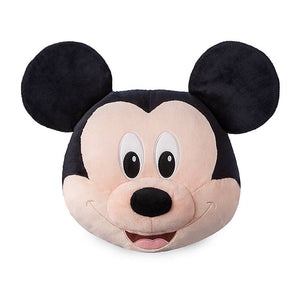 Disney Mickey Mouse Face Plush 19in Pillow New with Tag