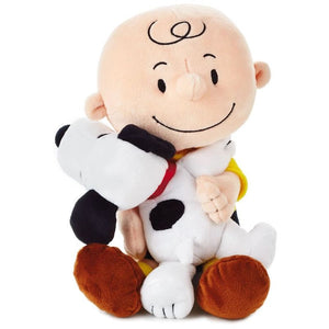 Hallmark Peanuts Charlie Brown and Snoopy Hugging Stuffed Animal 8.75 New w Tag