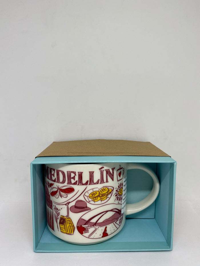 Starbucks Been There Series Colombia Medellin Ceramic Coffee Mug New with Box