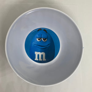 M&M's World Blue Character Logo Big Face Bowl New