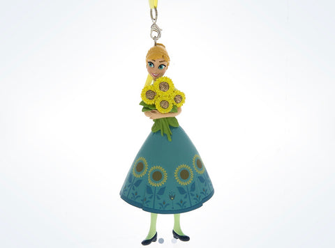 Disney Parks Frozen Fever Summer Anna 3D Christmas Ornament New with Tags