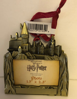 Universal Studios Harry Potter Hogwarts Metal Photo Frame Ornament New with Tags
