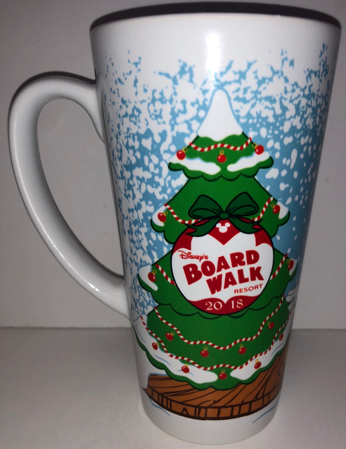 Disney 2018 Mickey Minnie Broadwalk Resort Holiday Celebration Tall Mug New