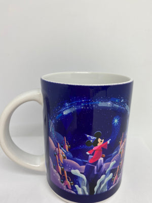 Disney Parks Wonderground Fantasia Mickey Sorcerer Coffee Mug New