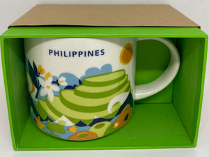 Starbucks Coffee You Are Here Philippines Ceramic Coffee Mug New