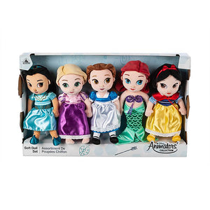 Disney Store Animators' Collection Plush Doll Gift Set Small New with Box