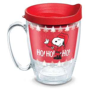 Tervis Peanuts Snoopy and Woodstock Ho Ho Ho Mug 16 oz New