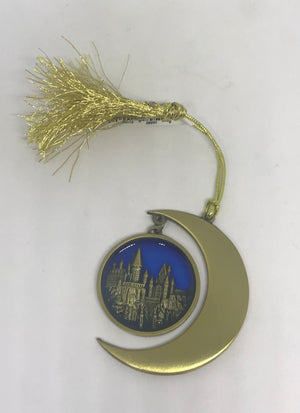 Universal Studios Harry Potter Christmas Ornament Castle Moon New
