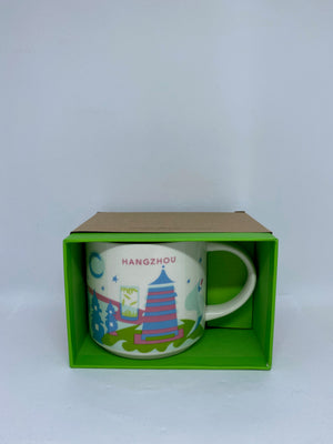 Starbucks You Are Here Collection Hangzhou China Ceramic Coffee Mug New With Box