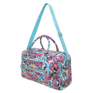 Disney Mickey Mouse Colorful Garden Iconic Weekender Travel Bag Vera Bradley