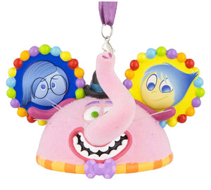 Disney Parks Pixar Inside Out Bing Bong Joy Sadness Ear Hat Christmas Ornament