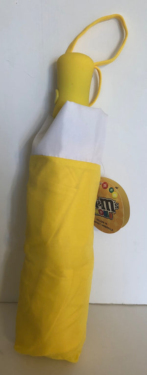 M&M's World Yellow Lentil Compact Umbrella New with Tags