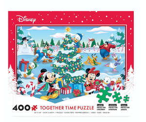 Disney Mickey and Friends Christmas Holiday Together Time 400 pcs Puzzle New