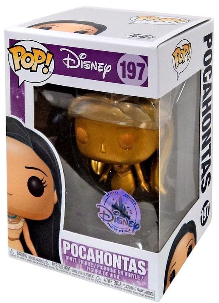 Disney Special Edition Pocahontas Gold Pop Funko Vinyl Figure New with Box
