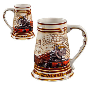 Universal Studios Harry Potter Hogwarts Express Train Stein Ceramic Mug New