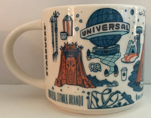 Starbucks Been There Series Collection Ceramic Mug Universal Studios Orlando New
