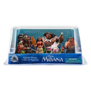 Disney Store Moana Figure Play Set 6pcs New with Box