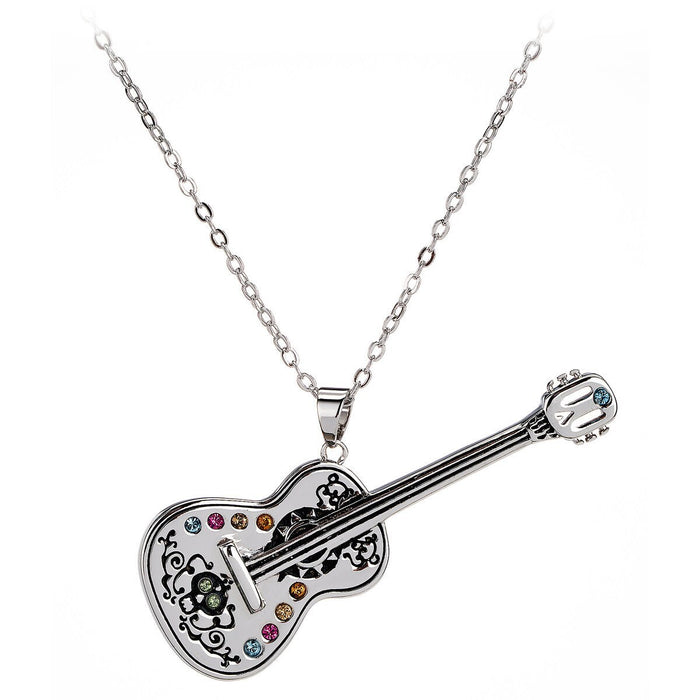 Disney Parks Coco Guitar Necklace by Arribas New with Tags