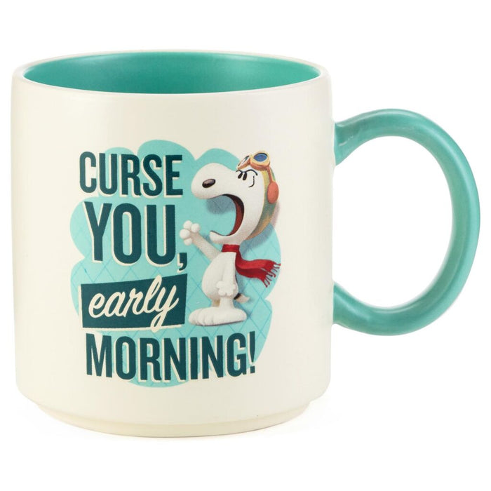 Hallmark Peanuts Snoopy Flying Ace Curse You Early Morning Coffee Mug New
