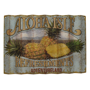 Disney Parks Aloha Isle Refreshments Wall Sign Walt Disney World New