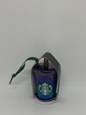 Starbucks 2019 Black Luster Cold Cup Ceramic Christmas Ornament New with Tag